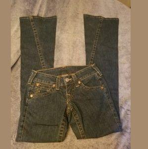True Religion Joey Bootcut Flare Twist Jeans 24
